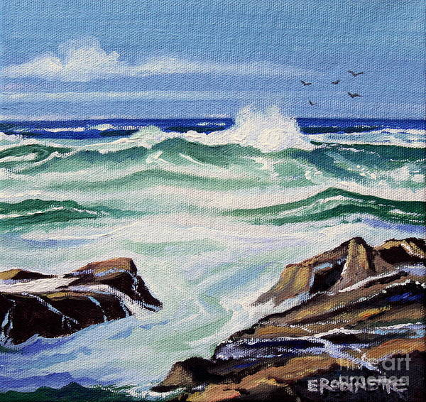 Painting - At The Ocean by Elizabeth Robinette Tyndall