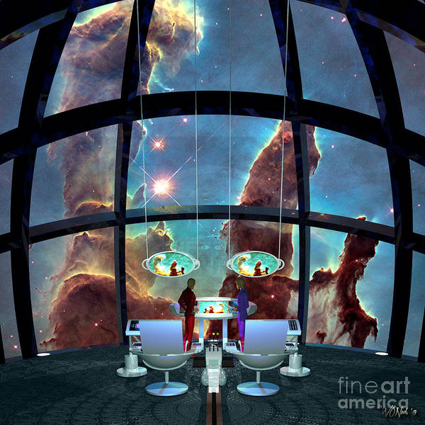 Digital Art - At The Pillars Of Creation by Walter Neal