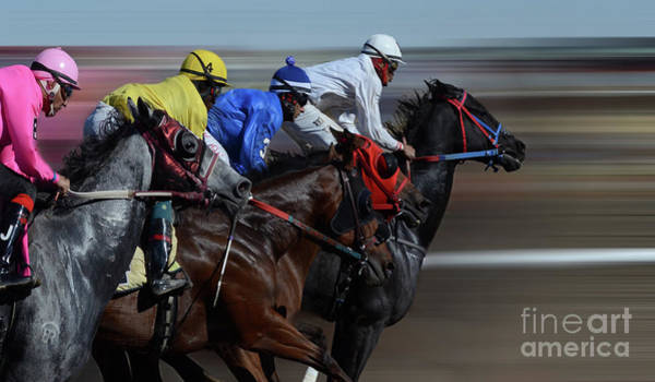 Jocky Photograph - At The Racetrack 1 by Bob Christopher