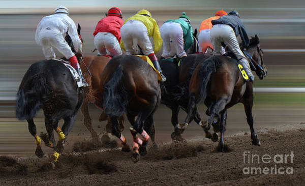 Jocky Photograph - At The Racetrack 4 by Bob Christopher