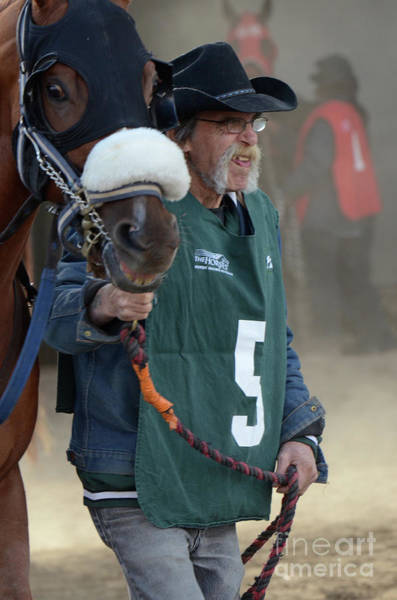 Jocky Photograph - At The Racetrack 5 by Bob Christopher