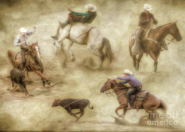 Bucking Bronco Digital Art - At The Rodeo by Randy Steele