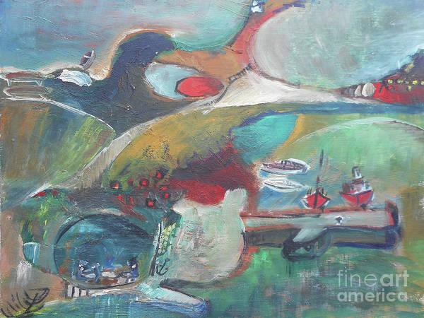 At The Sea Shore Art Print
