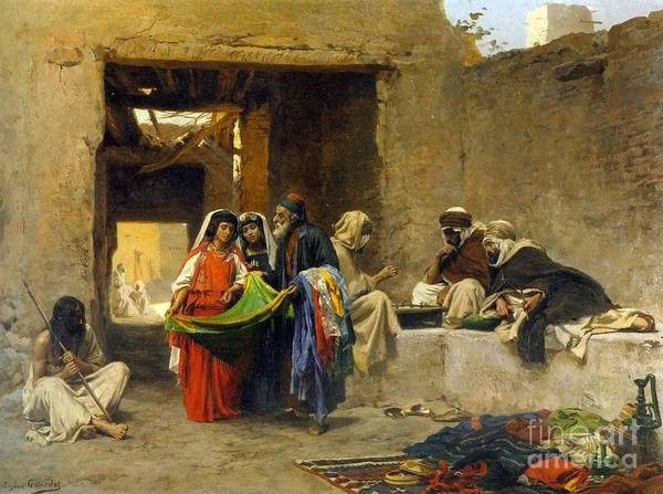 Painting - At The Souk by Celestial Images