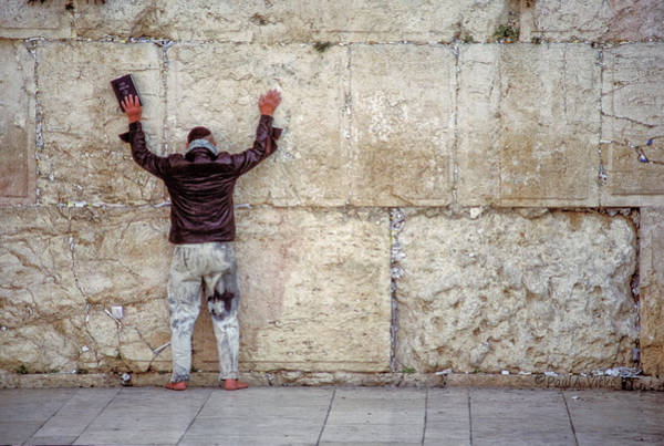 Photograph - At The Wailing Wall by Paul Vitko