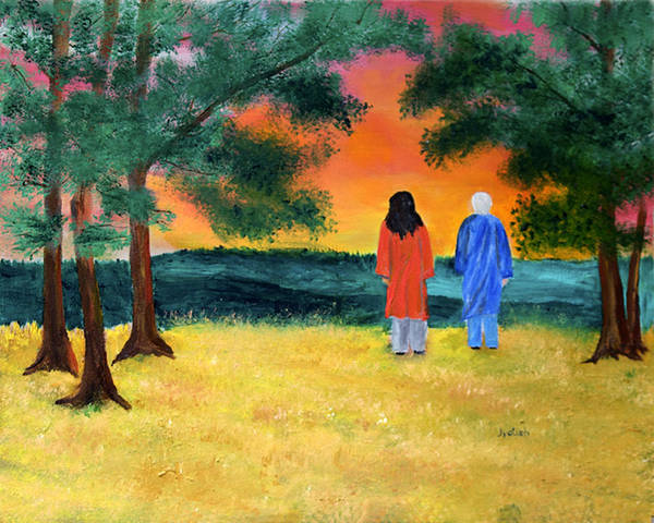 Paramhansa Yogananda Painting - At Twilight by Nayaswami Jyotish