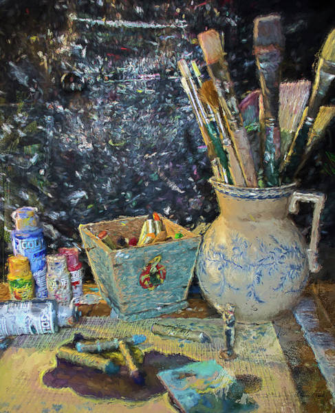 Painting - At Work Still Life by Bellesouth Studio