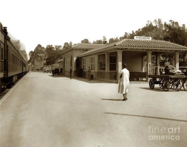 Photograph - Atascadero Train Station Circa 1930 by California Views Archives Mr Pat Hathaway Archives