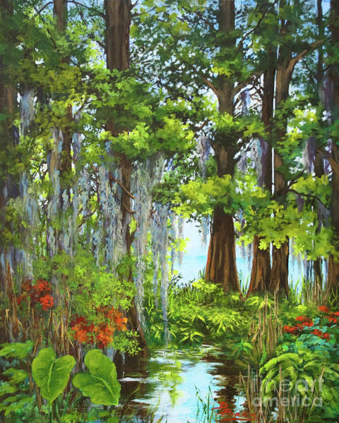 Wall Art - Painting - Atchafalaya Swamp by Dianne Parks