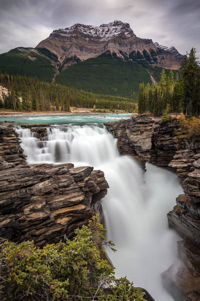 Photograph - Athabasca Falls On The Icefield Parkway by Pierre Leclerc Photography