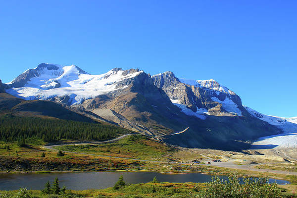Photograph -  Athabasca Glacier  In The Canadian Rockies by Ola Allen