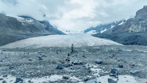 Photograph - Athabasca Glacier Vanishing Act by Joan Carroll