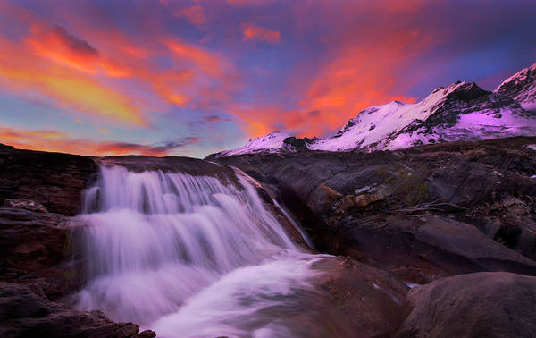 Photograph - Athabasca On Fire by Dan Jurak