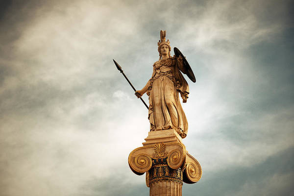 Photograph - Athena Statue by Songquan Deng
