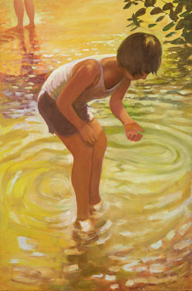 Painting - Athena Wading by Laura Lee Cundiff