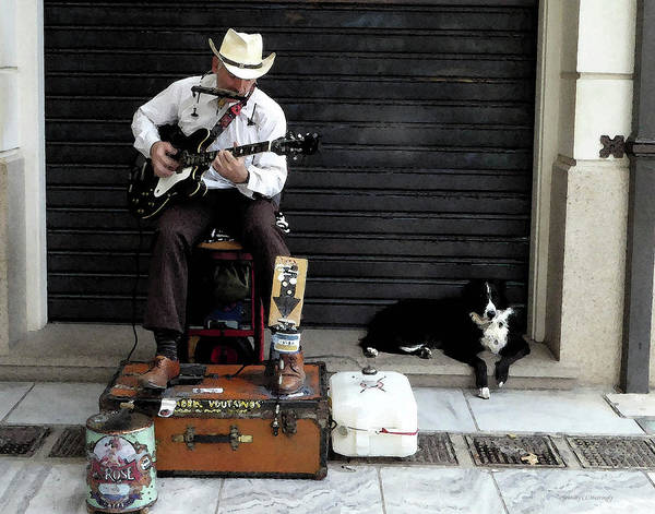 Photograph - Athens Cowboy With Dog by Coleman Mattingly