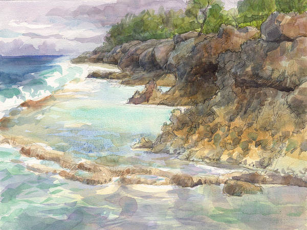 Painting - Atiu, Vai Piake by Judith Kunzle