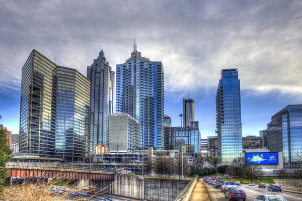 The Southern Company Photograph - Atlanta Blue Glass Reflections by Reid Callaway