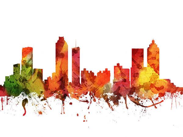 Atlanta Digital Art - Atlanta Cityscape 04 by Aged Pixel