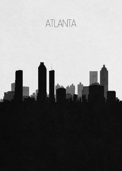 Souvenir Digital Art - Atlanta Cityscape Art by Inspirowl Design