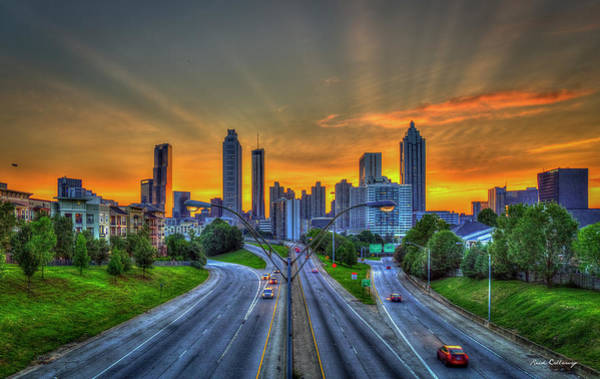 Georgia Power Company Photograph - Atlanta Crown Sunset Downtown Cityscape Art by Reid Callaway
