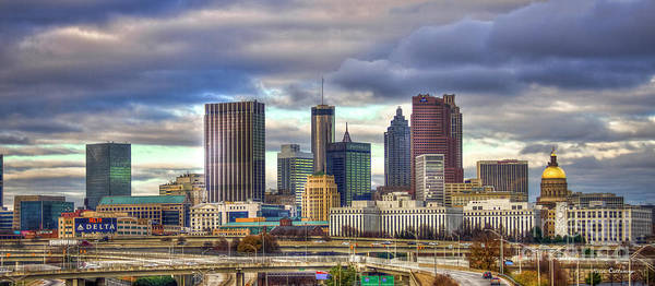 Georgia Power Company Photograph - Atlanta Downtown Skyline Cityscape Art by Reid Callaway