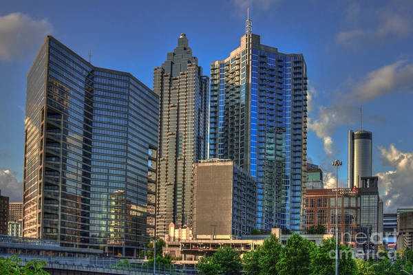 The Southern Company Photograph - Atlanta Downtown Skyline Reflections by Reid Callaway
