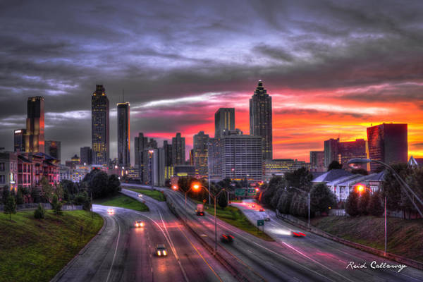 The Southern Company Photograph - Atlanta Downtown Sunset Art by Reid Callaway