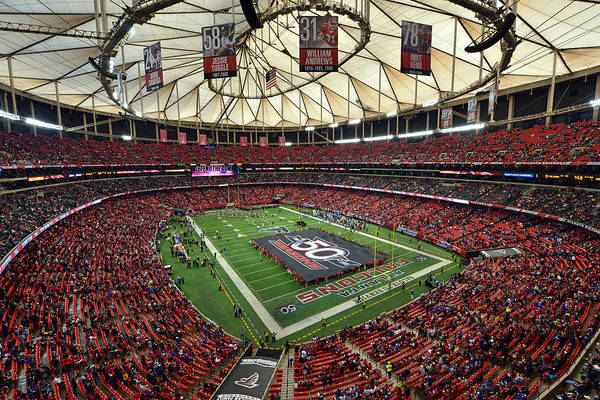 Photograph - Atlanta Falcons Georgia Dome by Mark Whitt