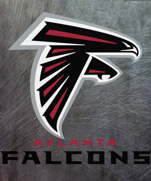 Mixed Media - Atlanta Falcons On An Abraded Steel Texture by Movie Poster Prints