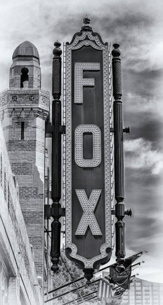 Wall Art - Photograph - Atlanta - Fox Theatre Sign #1 by Stephen Stookey