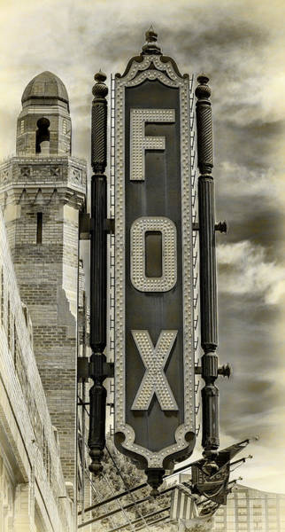 Wall Art - Photograph - Atlanta - Fox Theatre Sign #2 by Stephen Stookey