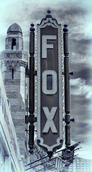 Wall Art - Photograph - Atlanta - Fox Theatre Sign #3 by Stephen Stookey
