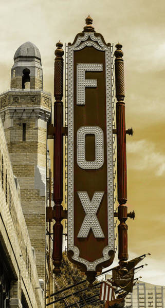 Wall Art - Photograph - Atlanta - Fox Theatre Sign #6 by Stephen Stookey