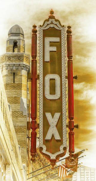 Wall Art - Photograph - Atlanta - Fox Theatre Sign #7 by Stephen Stookey