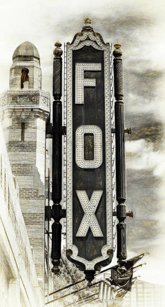 Wall Art - Photograph - Atlanta - Fox Theatre Sign #8 by Stephen Stookey