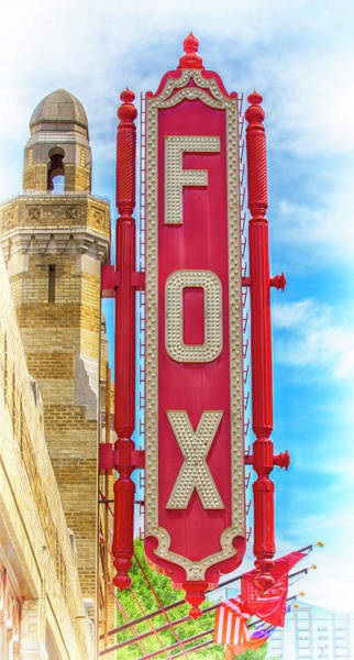 Wall Art - Photograph - Atlanta - Fox Theatre Sign #9 by Stephen Stookey