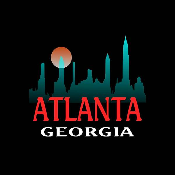 Mixed Media - Atlanta Georgia Design by Peter Potter