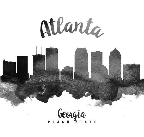 Wall Art - Painting - Atlanta Georgia Skyline 18 by Aged Pixel