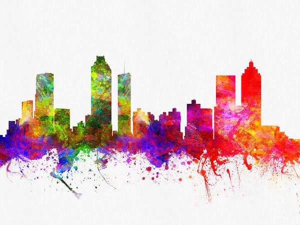 Atlanta Digital Art - Atlanta Georgia Skyline by Aged Pixel