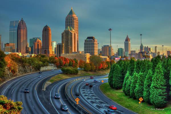 Georgia Power Company Photograph - Atlanta Glow Sunset Skyline Art by Reid Callaway