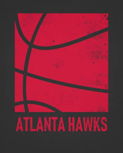Wall Art - Mixed Media - Atlanta Hawks City Poster Art 2 by Joe Hamilton