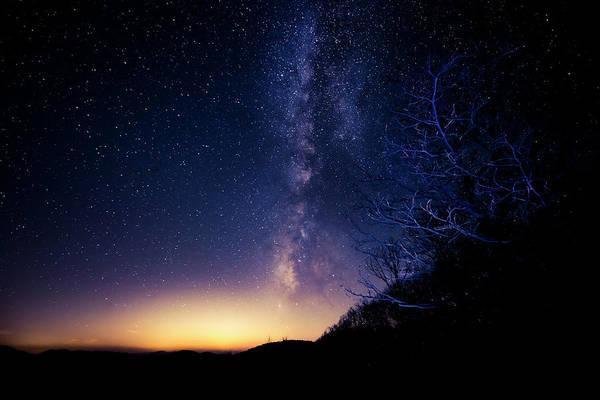 Photograph - Atlanta Lights Under The Milky Way by David Morefield