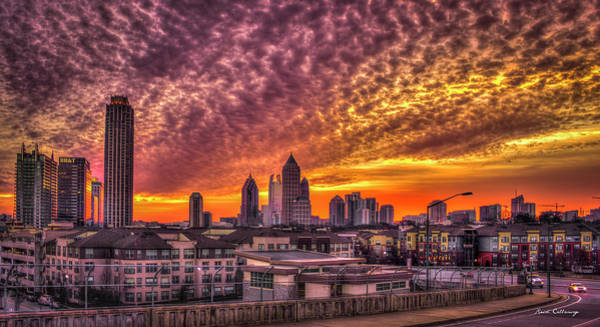 Georgia Power Company Photograph - Atlanta Midtown Atlantic Station Sunrise by Reid Callaway