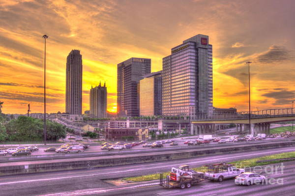 Georgia Power Company Photograph - Atlanta Midtown Atlantic Station Sunset by Reid Callaway