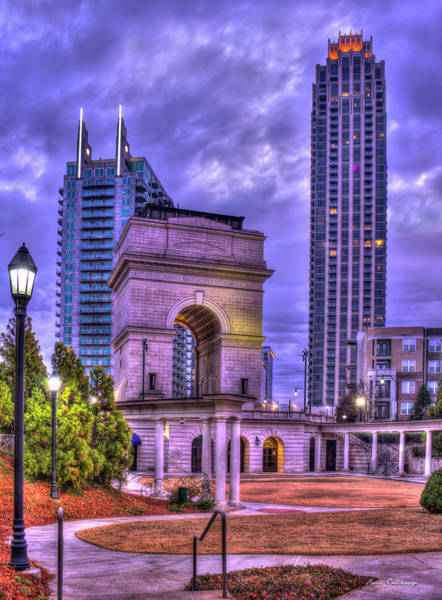 Village Gate Photograph - Atlanta Millennium Gate Atlantic Station Cityscape Art by Reid Callaway