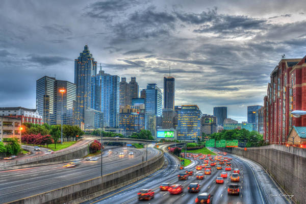 Georgia Power Company Photograph - Atlanta Moving On Downtown Before Sunset by Reid Callaway