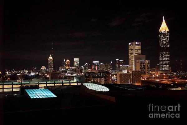 Photograph - Atlanta Night Skyline by Carol Groenen