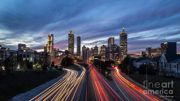 Wall Art - Photograph - Atlanta Nite Lights 9 Atlanta Sunset Cityscape Art by Reid Callaway