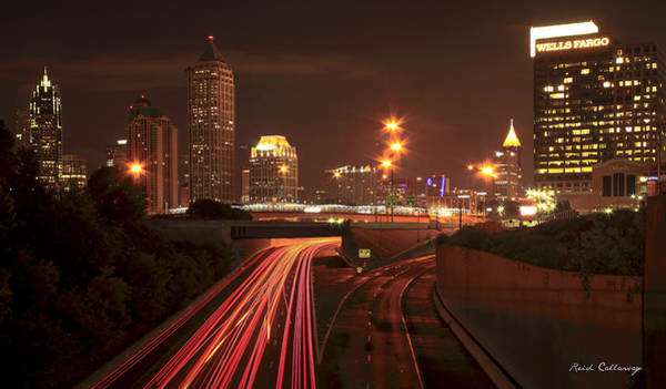 Georgia Power Company Photograph - Atlanta Nite Works Cityscape Night Art by Reid Callaway